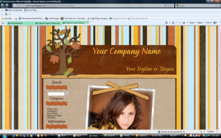 Autumn Leaves Website Template